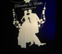 Gobo Projekce Projection267 Svatba Wedding