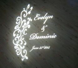 Gobo Projekce Projection268 Svatba Wedding