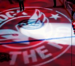 Gobo Projekce Projection42 Logo Promotion Ice Hockey